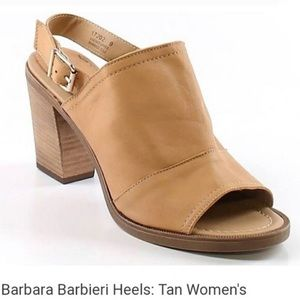 Barbara Barbieri Genuine Leather Block Heels